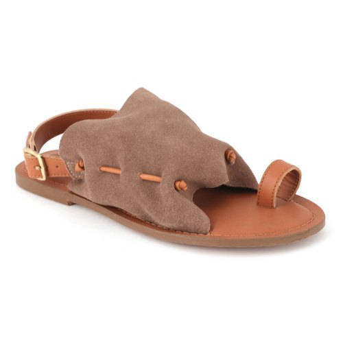 2e634896d5ba London Rag Women s Suede Taupe Back Strap Flat Sandal at Rs 700 ...