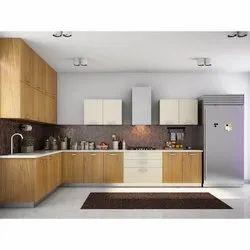 L Shape Wooden L Shaped Modular Kitchen