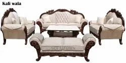 Off White 9 Seater Carved Sofa Set, Warranty: 1 Year