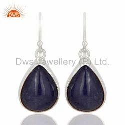 Tanzanite Gemstone Fine Silver Earring