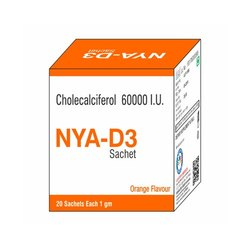 Cholecalciferol 6000 IU Vitamin D3 Sachet