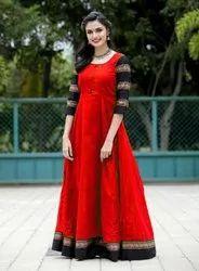 Anarkali Bollywood Cotton Long Kurti