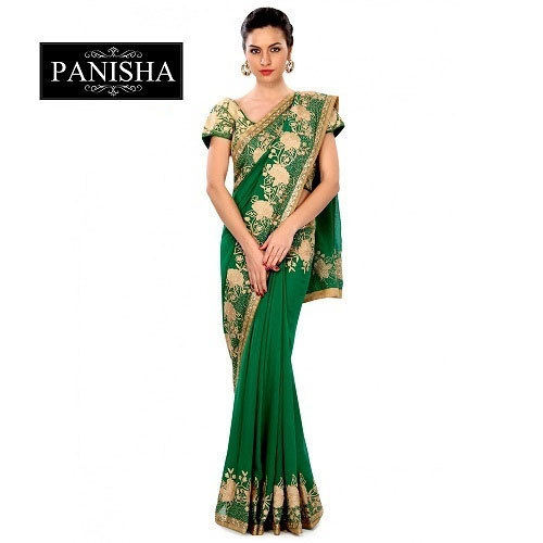 3b05b9f6a8 Ladies Designer Saree With Blouse Piece, Rs 8500 /piece, PANISHA ...