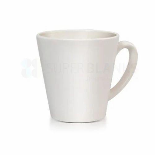 12oz Ceramic Cone White Mug