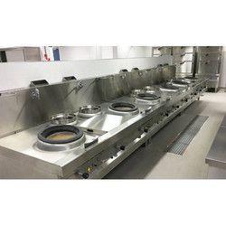 6 Burner Chinese Cooking Range