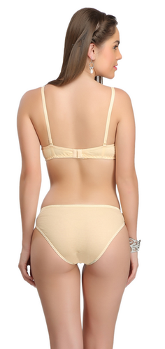 ced9aa454 Cotton Selfcare Women Padded Bra And Panty Set