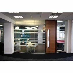 Toughenend Transparent Office Glass Partition