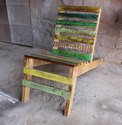 Without Arm Natural Vintage Rustic Retro Reclaimed Wood Outdoor Relax Chair, Country Of Origin: India