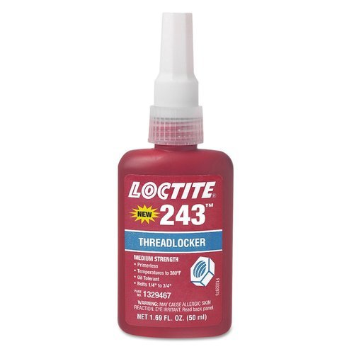 Loctite 243 Threadlocker, Packaging Size: Net 1.69 Fl. Oz. (50 Ml)