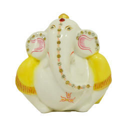 Cultured Marble Ganesh Statue