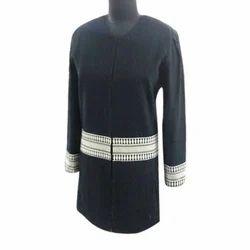 Mid Thigh Casual Wear Ladies Trendy Jacket