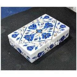 Rectangular Beautiful Marble Inlay Box