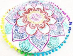 Lotus Ombre Round Cushion