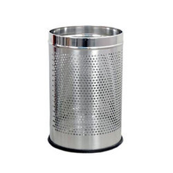 Perforated Stainless Steel Dustbin