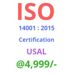 ISO 14001 : 2015 Certification