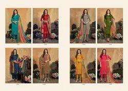 Heavy Jaam Satin Printed Designer Kashmiri Stich Embroidery With Patti Work