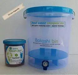 Organic home composting bin plastic 15ltrs