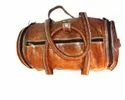 Vintage Leather Organizer Gym Bag