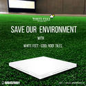 Thermal Solar Reflective Tiles White Feet