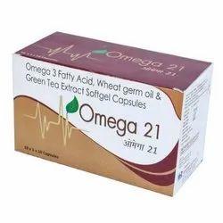 Solemn Biotech OMEGA-21 Capsules (Omega-3, fatty acid malti), Packaging Type: Box