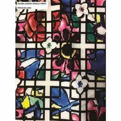 Multicolor Scuba Suede Printed Fabric