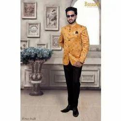 Mens Printed Jodhpuri Suit