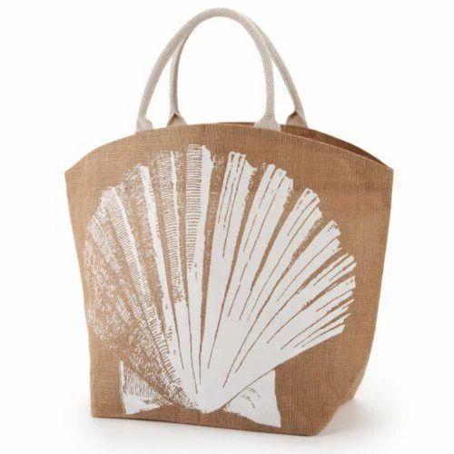 4f007bd3331c KBK Jute Printed Beach Bag
