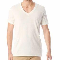 Indian Handicrfats Export Royal Blue Solid Regular Fit Cotton Mens T-Shirt