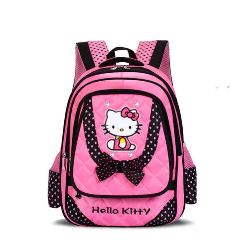 2eacdd229 Pink And Black Kids Girl Hello Kitty School Bag, Rs 200 /piece | ID ...