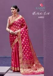 Party Wear Printed Heavy Orgenza Silk Saree With Blouse