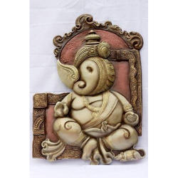 Ceramic Polished Ganesh Mural
