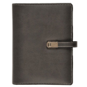 Gray Black Leather Diary