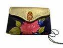 Blue Embroidered Ladies Hand Bag, Size/dimension: Medium