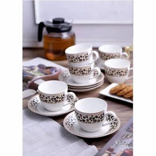 Ceramic Porcelain Cup Saucer