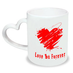 Personalised Heart handle Mug