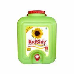 Krishiv Premium Refined Sunflower Oil, Packaging: 15 Ltr