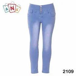 Blue Kids Fancy Four Button Stretchable Jeans