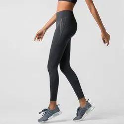 Polyester Straight Fit Yoga Wear Leggings