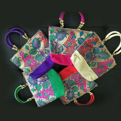 Multicolor Return Gift Pooja Hand Bag - Traditional Images