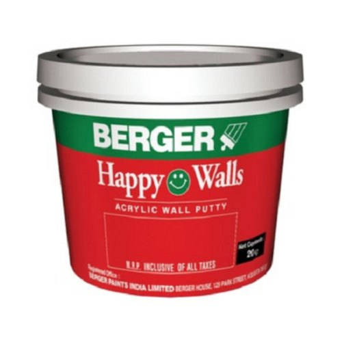 Berger Acrylic Wall Putty Packaging 20 Kg Rs 55 Kilogram Deck Boot Company Of India Id 20565095088