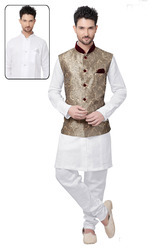 Men's Readymade Kurta Pyjama With Nehru Jacket