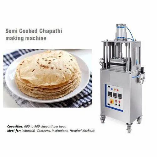 Chapati Making Machine, Automation Grade: Semi-Automatic, Capacity: 600-900 Chapati per hour