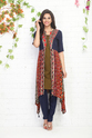 SHORT KURTI WITH LONG PRINTED JACKET