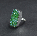 New Mystic Green Druzy Gemstone Silver Plated Women Ring