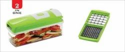 Atman 2 In 1 Fruit And Vegetable Graters, Slicer, Chipser, Dicer, Cutter Chopper (Green)