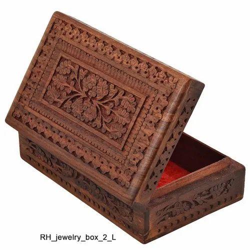 Wooden Designer Handcarved Jewellery Box Jewel Storage Organizer Great Gift Ideas