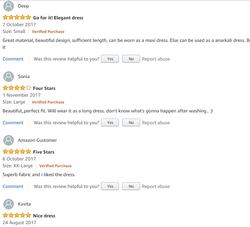 Feedback from Amazon''s Customers