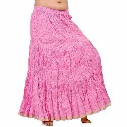 Zari Border Cotton Long Skirt 210