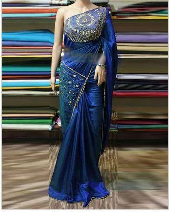 412b3e09db Royal Blue Party Wear Designer Saree, Rs 11500 /piece, Gs Fashion ...