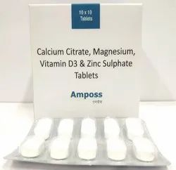 Calcium Citrate, Magnesium, Vitamin D3 and Zinc Sulphate Tablets